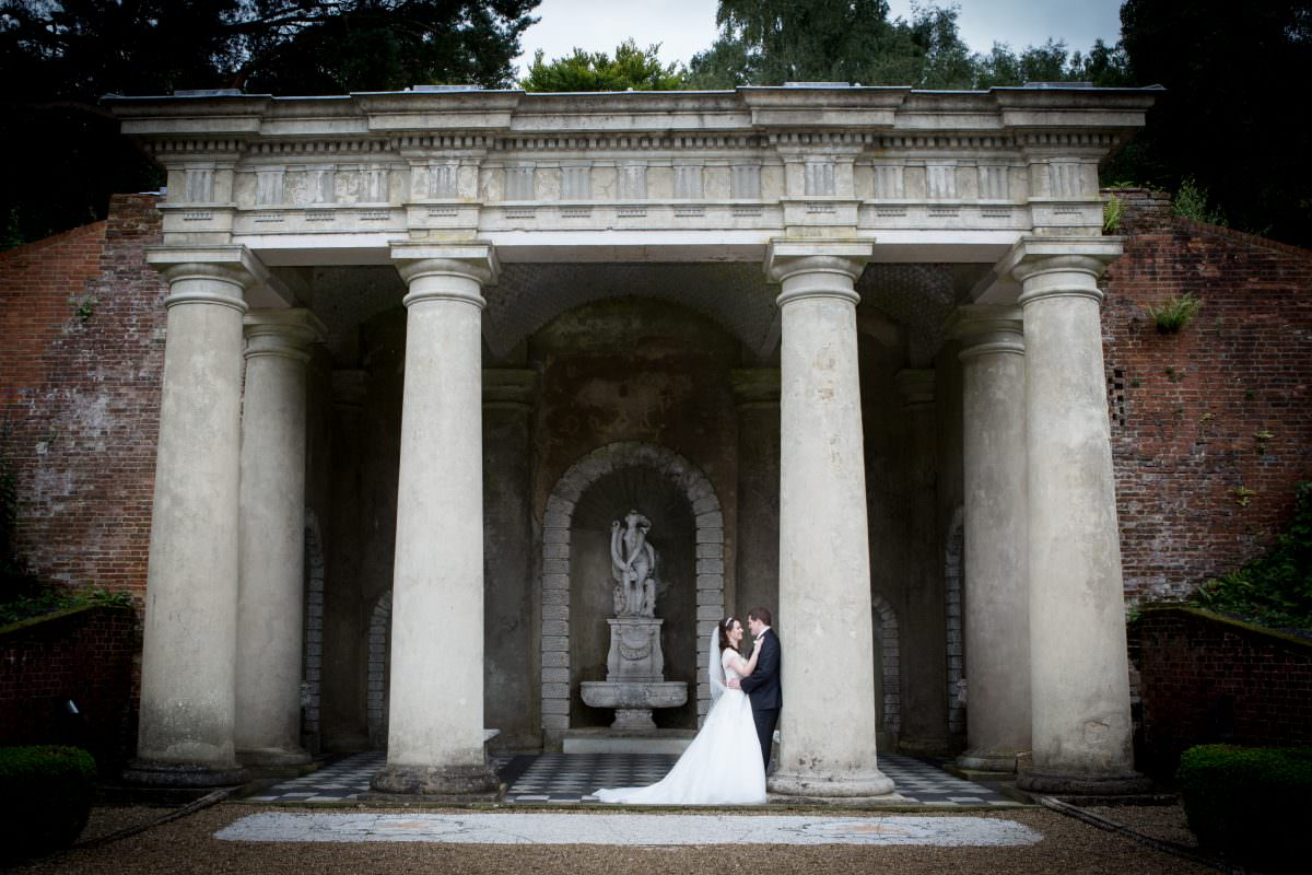 Temples and Grottos at Ruth and Mark's wedding at Wotton House