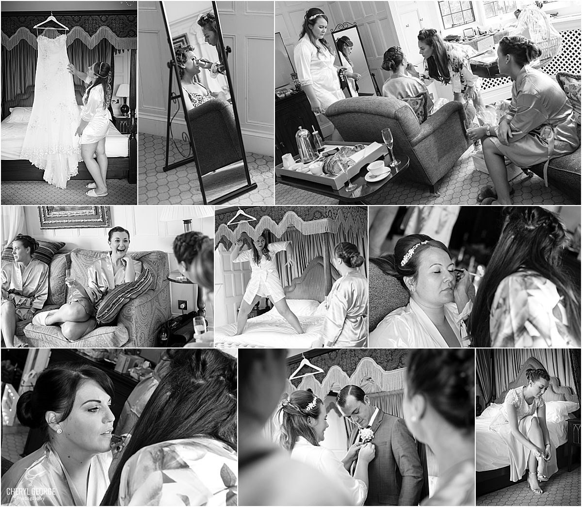 danesfield house bridal preparations